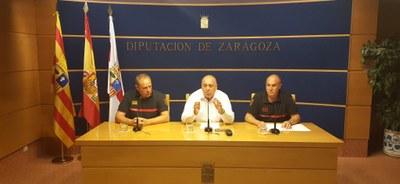 Los bomberos de la Diputación de Zaragoza instalarán detectores de humo y monóxido en las viviendas más vulnerables de la provincia