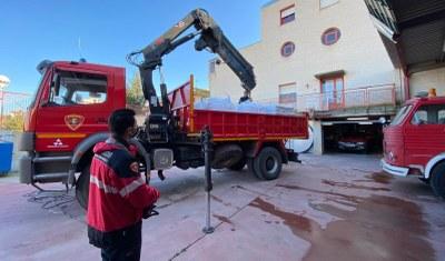 Los bomberos de la Diputación de Zaragoza organizan un dispositivo especial para hacer frente a las incidencias por la borrasca Filomena