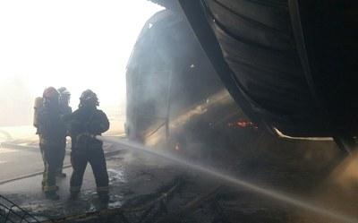 Los bomberos de la Diputación de Zaragoza realizaron 2.564 intervenciones a lo largo de 2016, casi la mitad por incendios