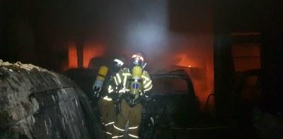 Los bomberos de la Diputación de Zaragoza realizaron más de 3.300 intervenciones  a lo largo del año pasado