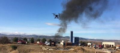 Los bomberos de la DPZ participan en una formación dentro del proyecto europeo Safed sobre el uso de drones en incendios
