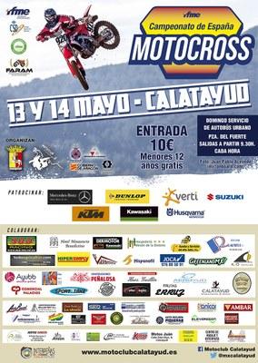 Los mejores pilotos del país compiten este fin de semana en Calatayud en una nueva prueba del Campeonato de España de Motocross