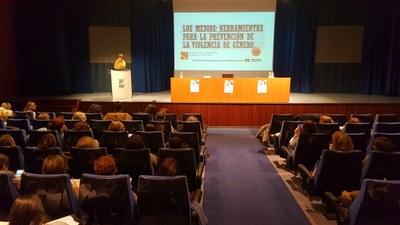 Más de cien personas participan en la jornada de prevención de la violencia machista organizada por la DPZ en la residencia Pignatelli