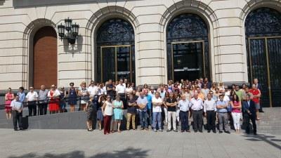 Minuto de silencio en la DPZ como repulsa a los atentados de ayer de Barcelona y Cambrils