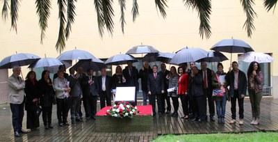 Ofrenda floral a las 14 víctimas de la Diputación de Zaragoza durante la Guerra Civil