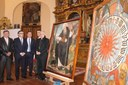 Pozuelo recupera el lienzo de San Antón y exhibe el Reloj Gótico aparecido bajo la pintura