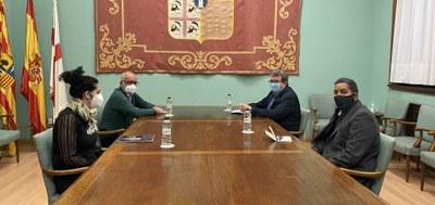 Representantes de la Diputación de Zaragoza se reúnen con el delegado saharaui para continuar con los proyectos de cooperación