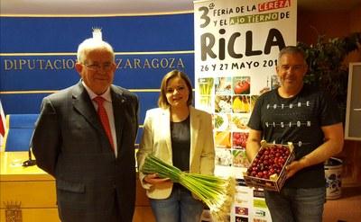 Ricla celebra este fin de semana la III edición de su Feria de la Cereza y el Ajo Tierno