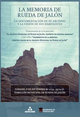 """Rueda de Jalón presenta mañana la exposición """"El Archivo Municipal de Rueda de Jalón , depósito de nuestra memoria"""""""