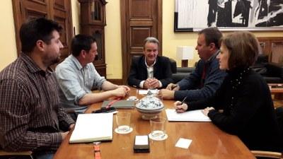 Sánchez Quero se reúne con el nuevo secretario general de UAGA, José María Alcubierre