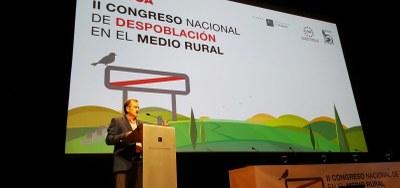 """Sánchez Quero urge a pasar """"de las palabras a los hechos"""" en el II Congreso Nacional de Despoblación en el Medio Rural"""