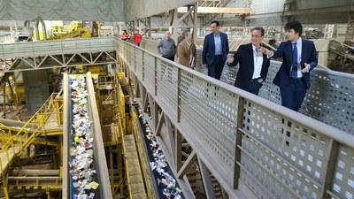 Sánchez Quero visita el ecovertedero para analizar las consecuencias del vertido de los residuos de toda la provincia