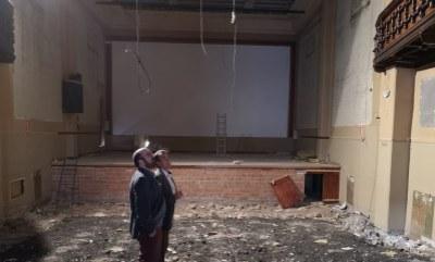 Sánchez Quero visita en Cariñena la reforma del cine Olimpia y las obras para reparar el santuario de la Virgen de Lagunas