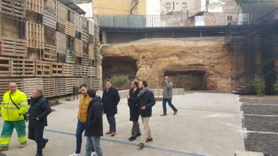Sánchez Quero visita la creación de un nuevo espacio en la calle de San Bartolomé y un acceso al entorno del castillo de Borja