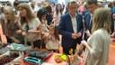 Sánchez Quero visita la III Feria de la Cereza y el Ajo Tierno de Ricla
