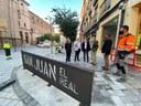 Sánchez Quero visita la reforma de la avenida San Juan El Real de Calatayud