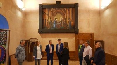 Sánchez Quero visita la sede de la Comarca del Aranda en el primer día de puertas abiertas para que los ciudadanos conozcan cuál es su estado