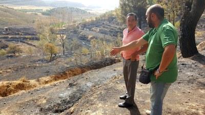 Sánchez Quero visita la zona calcinada en Nuévalos el domingo