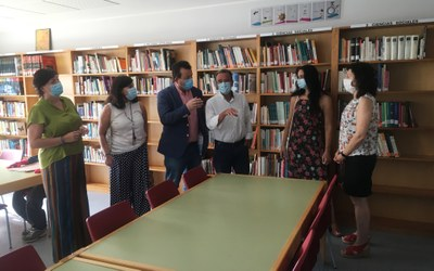 Sánchez Quero visita las últimas obras de mejora acometidas en la localidad de Zuera
