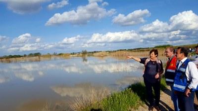 Sánchez Quero visita los municipios afectados por la riada del Ebro