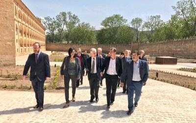 Sánchez Quero y el director general de Turespaña, Manuel Butler, visitan las obras del parador de Veruela