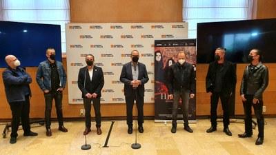 Sánchez Quero y Felipe Faci reciben a Héroes del Silencio con motivo del estreno del documental que repasa la historia del grupo