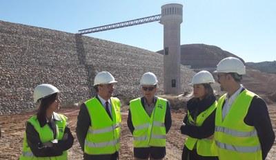 Sánchez Quero y Lambán visitan las obras del embalse de Mularroya
